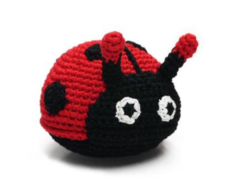 Organic Crochet Ladybug Toy