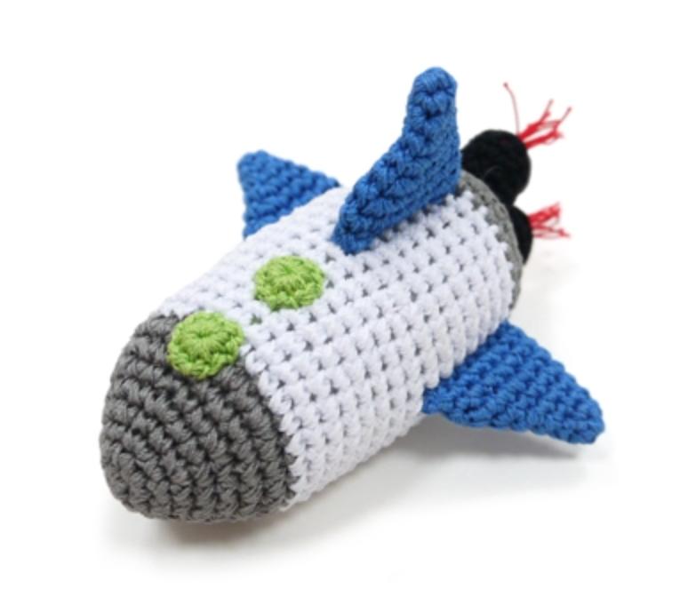 Organic Crochet Rocket Toy