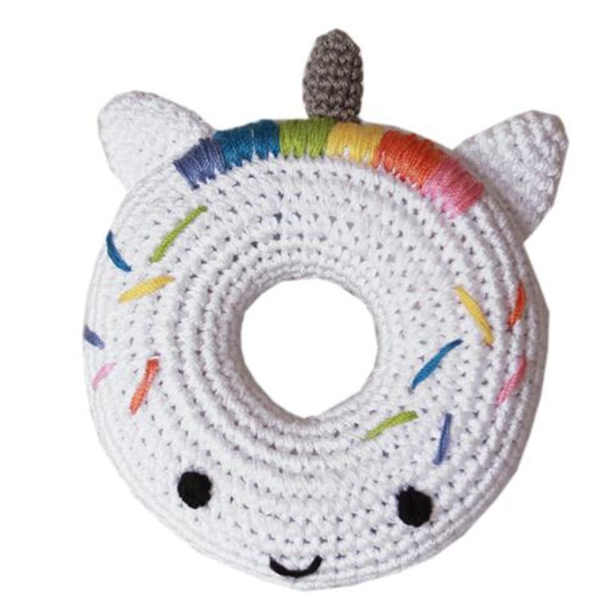 Organic Crochet Unicorn Donut Toy