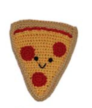 Organic Crochet Pizza Toy