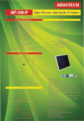 Panel Surya 50WP Merk AROSTECH