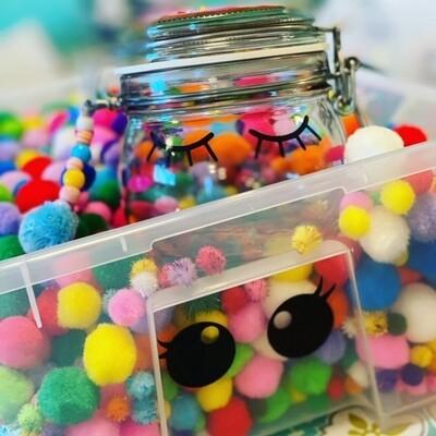 Bastelset - DIY Kit -DONUT Glas