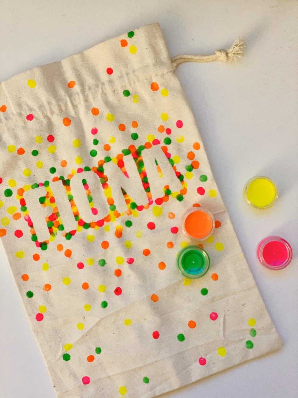 Bastelset - Textilsäckli Beschriftet -DIY Kit