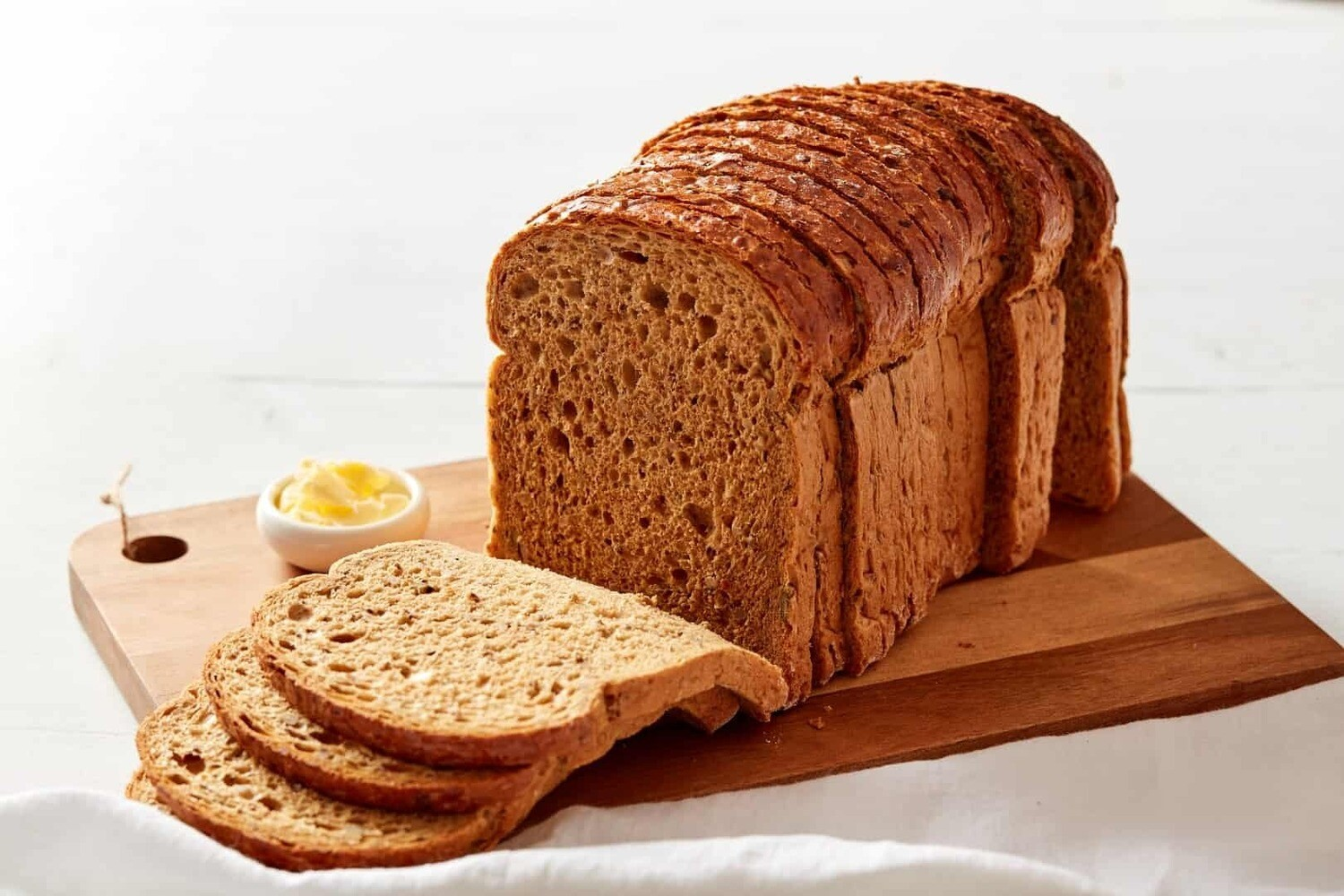 Multiseed Loaf Sliced