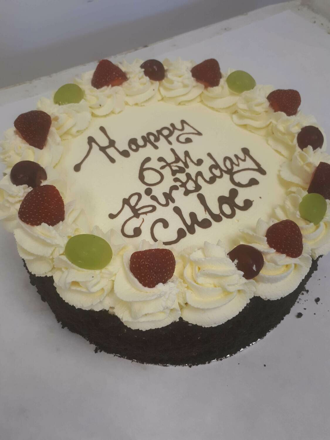 """6"""" Fresh Cream Birthday Cake (Collect after 1pm)"""
