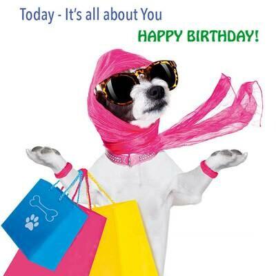 Dog Birthday Card- Made in Ireland