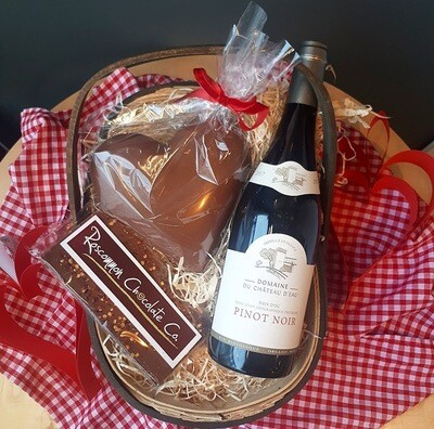 Wine & Chocolate Valentine Basket