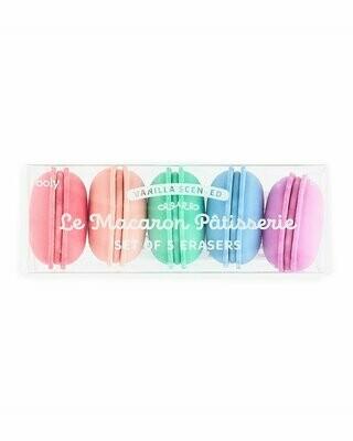 Le Macaron Patisserie Scented Eraser Set, 5-Eraser Set