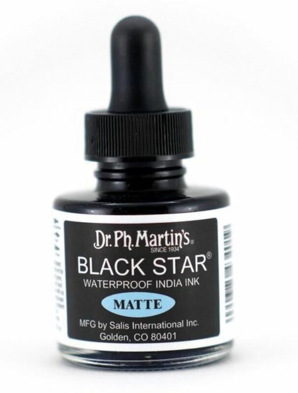 BLACK STAR MATTE INK 1OZ