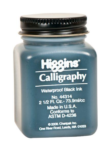 Higgins Black Calligraphy Ink 2.5oz