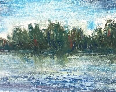 Pastel on Panel