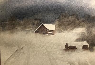 Winter Scenes in Watercolor