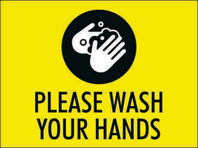 Please Wash Your Hands - Sign