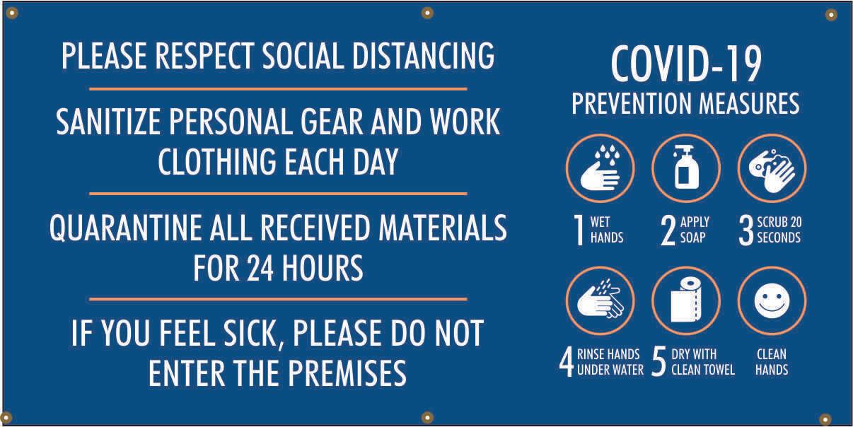 Covid-19 Prevention Measures, 5 Steps - Spanish Banner