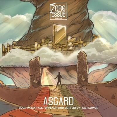Asgard Sour Wheat Ale w/ Peach & Butterfly Pea Flower
