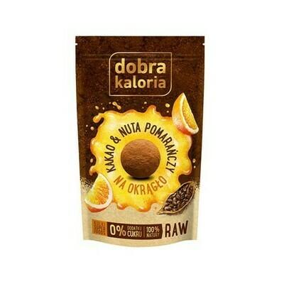 Kakavos ir apelsinų skonio saldainiai be cukraus 65g