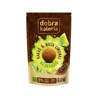 Kakavos ir žaliųjų citrinų skonio saldainiai be cukraus 65g