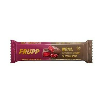 Šokoladu dengtas liofilizuotų vyšnių batonėlis, 20g