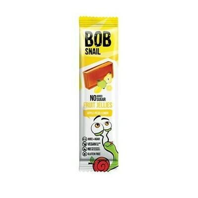 Obuolių, kriaušių ir citrinų juostelės BOB SNAIL, 38 g