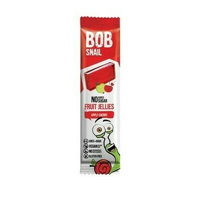 Obuolių ir vyšnių juostelės BOB SNAIL, 38 g