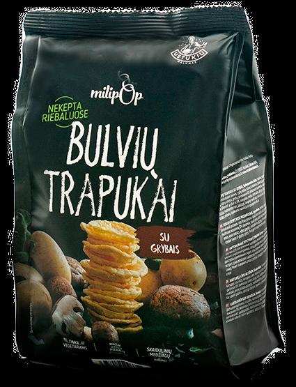 Bulvių trapukai grybų skonio MILIPOP, 90g