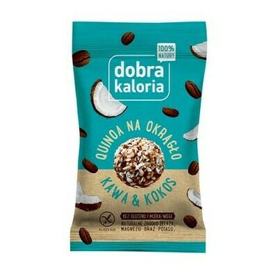 Kavos ir kokoso skonio saldainiai (be gliuteno ir pieno), 24g