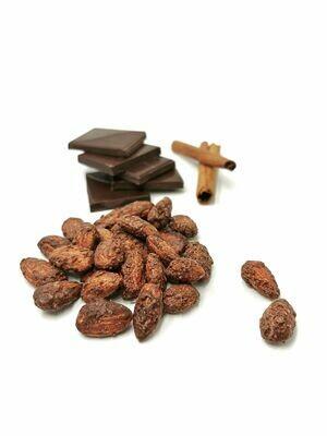 Karamelizuoti migdolai juodajame šokolade, 200g