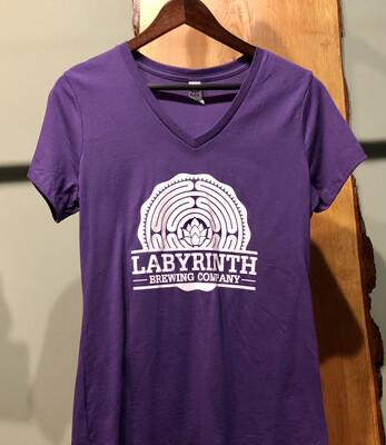 Ladies Purple Tee