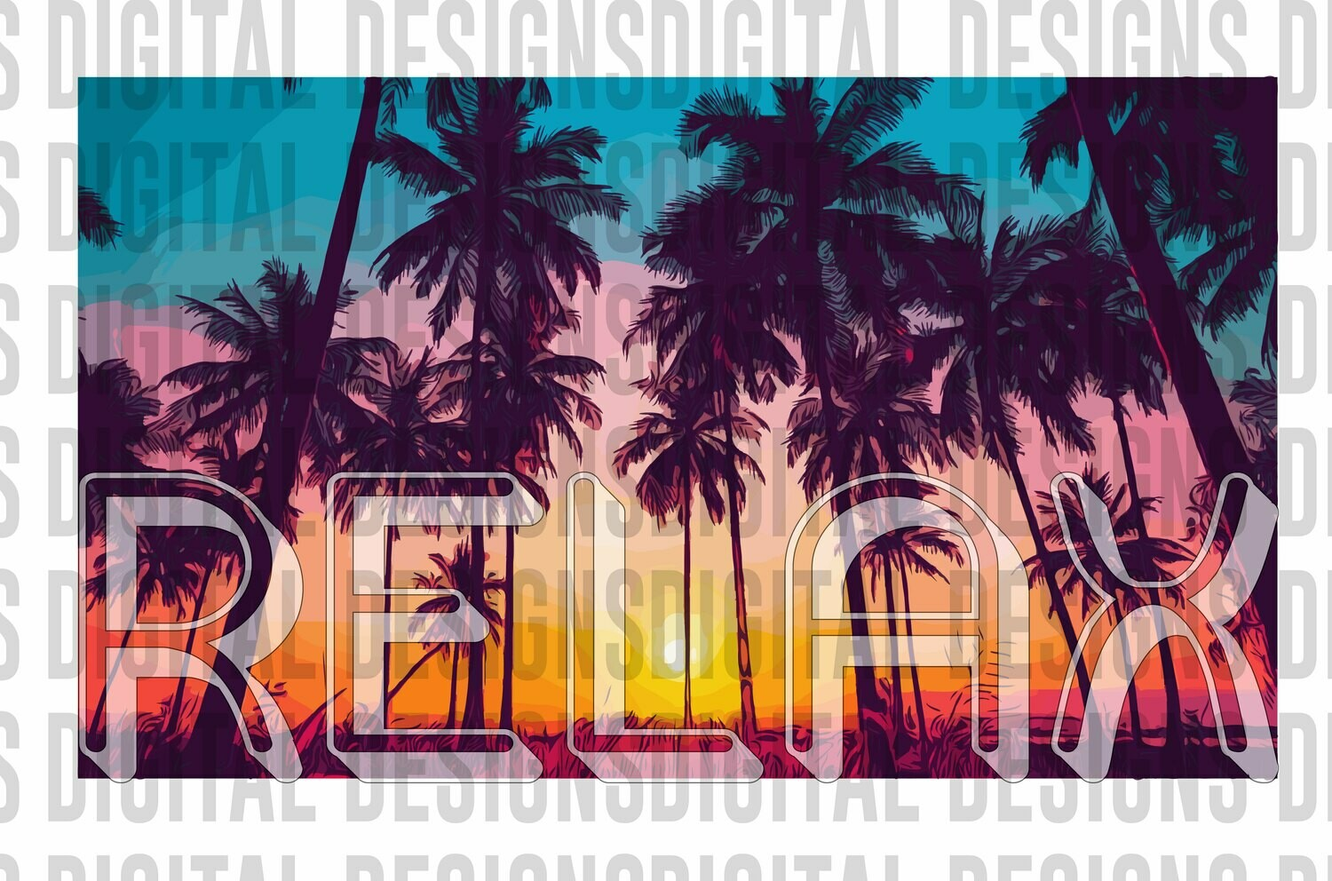 Relax Palm Trees Summer