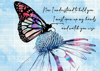 Butterfly on Flower - PNG SUBLIMATION PRINT