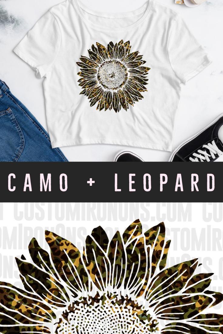 Sunflower - Camo + Leopard - PNG Sublimation