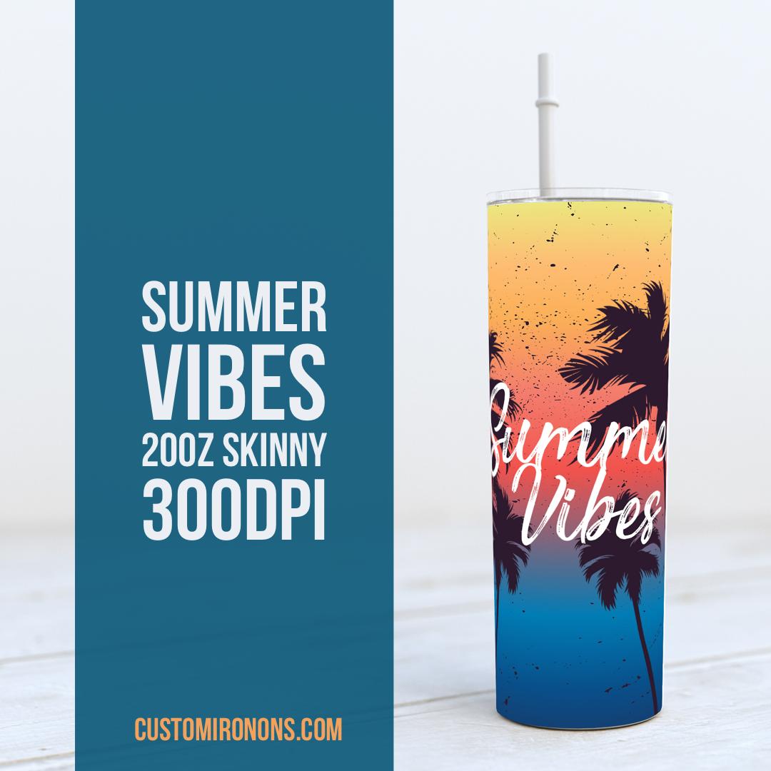 Summer Vibes - Skinny TUMBLER PNG