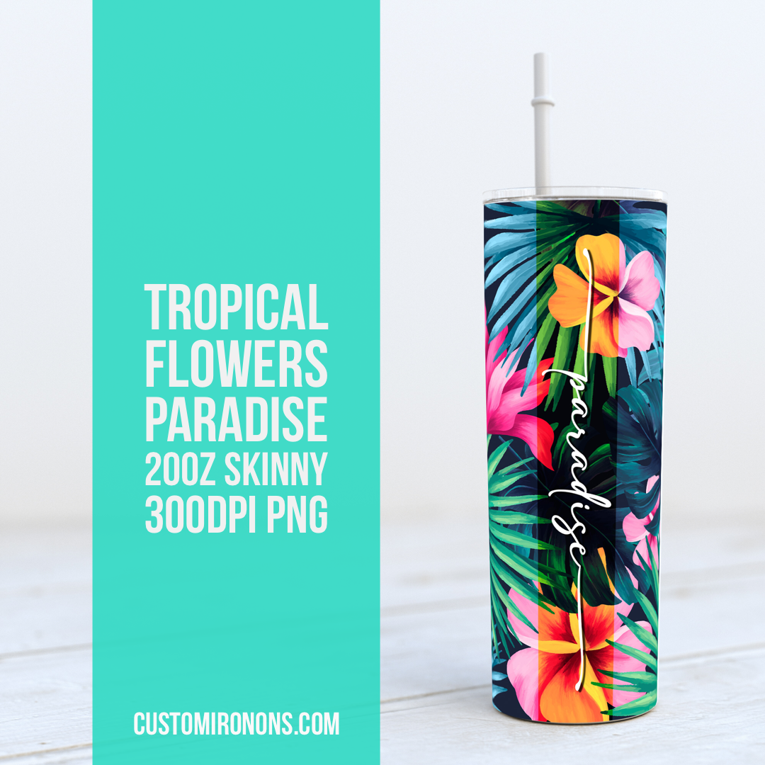 Tropical Paradise - TUMBLER PNG Sublimation