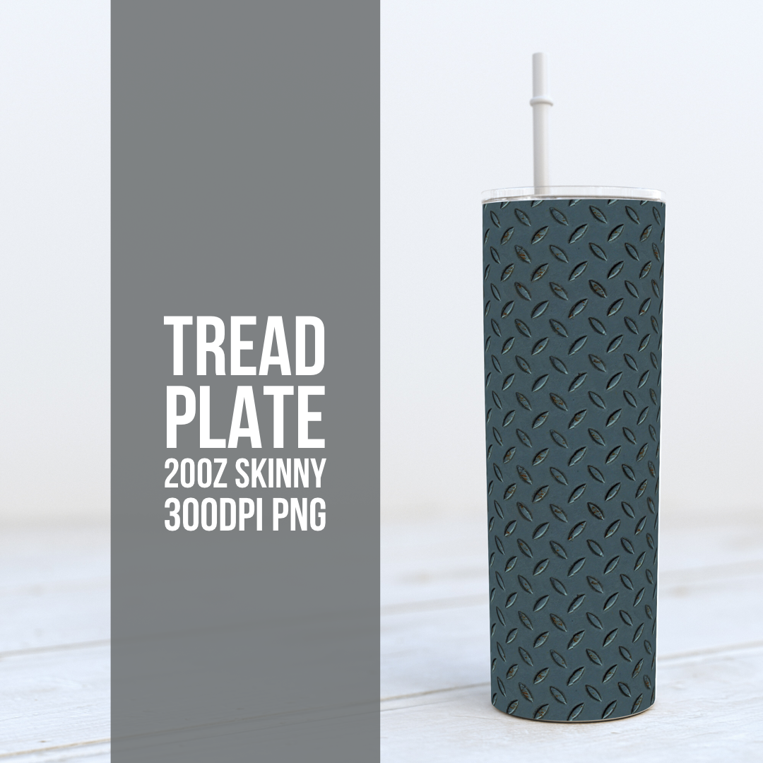 Truck Tread Plate -  20oz Skinny TUMBLER PNG Sublimation
