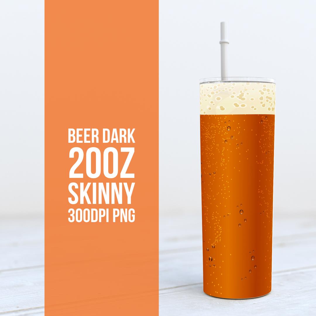 Beer Pale and Dark -  20oz Skinny TUMBLER PNG Sublimation