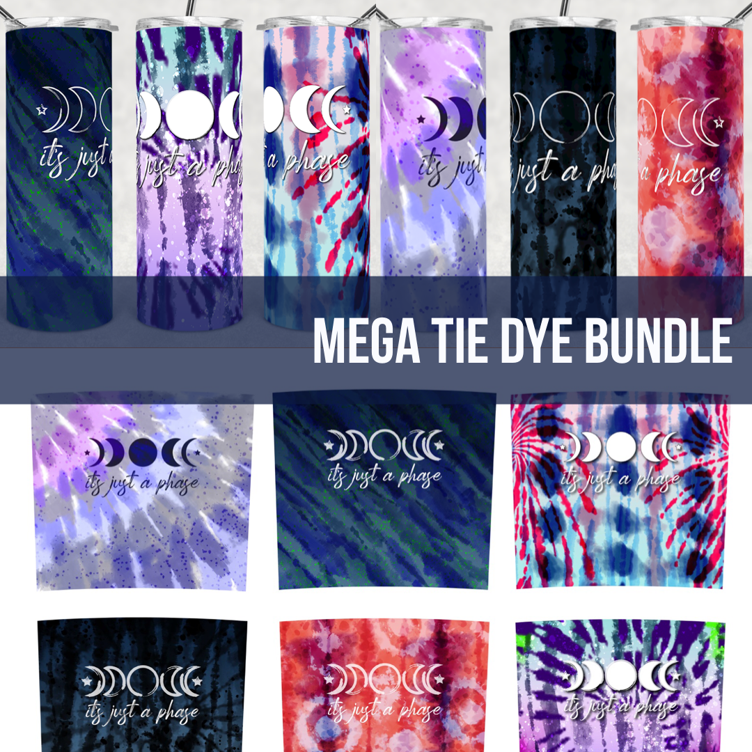 Tie Dye MEGA BUNDLE -  20oz Skinny TUMBLER PNG Sublimation