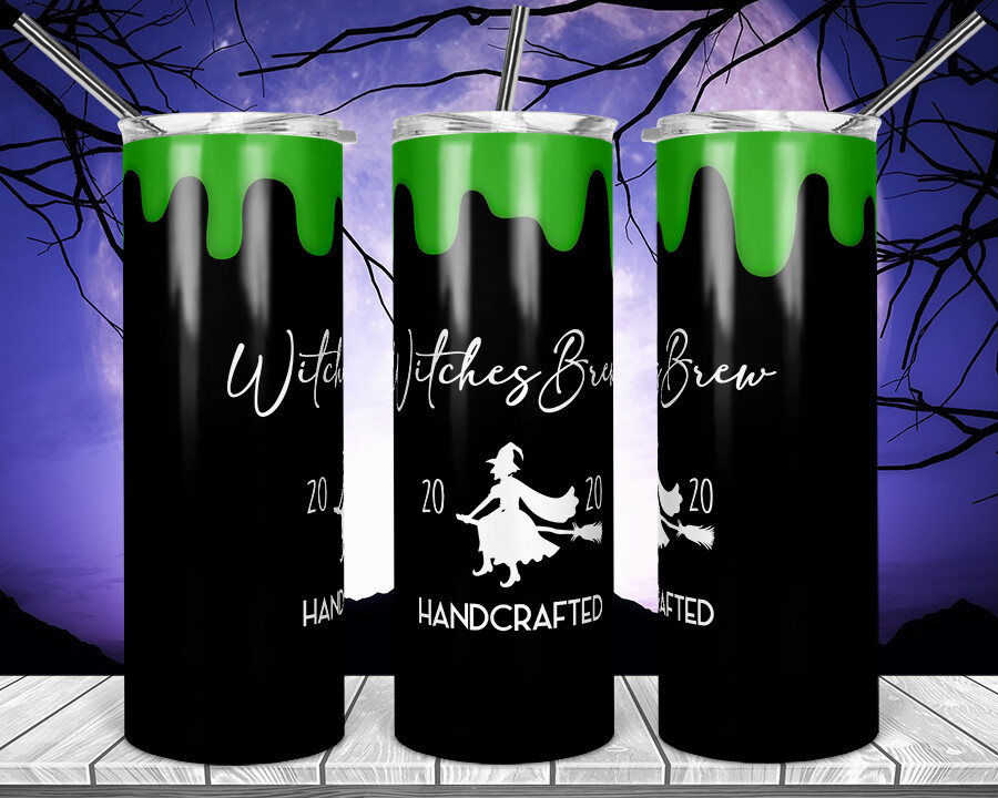 Witches Brew 2020 - Tie Dye Jack-  20oz Skinny TUMBLER PNG Sublimation