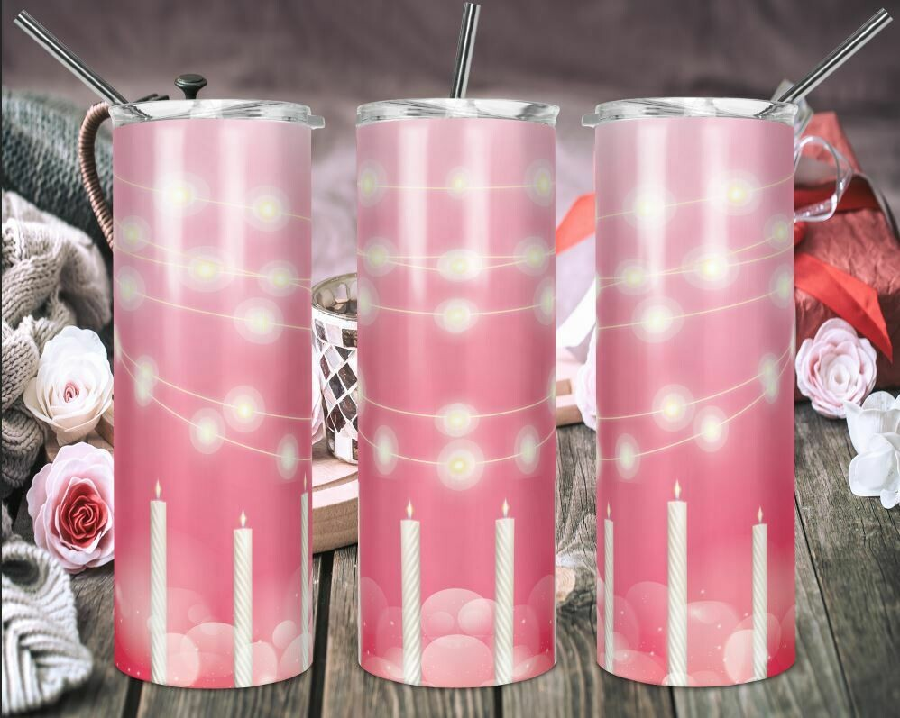 Birthday Celebration - Add your own text -  20oz Skinny & Straight TUMBLERS PNG Sublimation