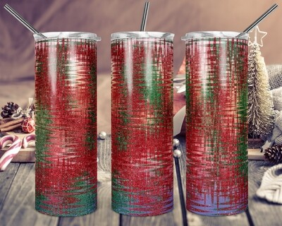 Holiday Wrap - Add a name -  20oz & 30oz Tapered + Square - TUMBLER PNG Sublimation