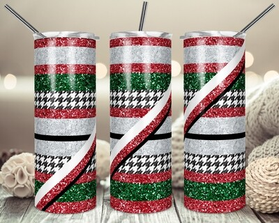 Hounds tooth Stripes -  20oz & 30oz Skinny TUMBLER PNG Sublimation