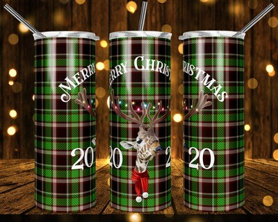 Reindeer Poser - I'm really a Giraffe - Merry Christmas  20oz & 30oz Skinny TUMBLER PNG Sublimation