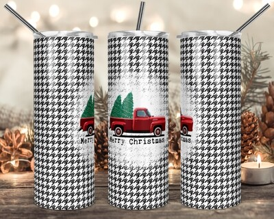 MEGA PACK OF 8 DIFFERENT Truck Buffalo Plaid Merry Christmas - 20oz & 30oz Skinny TUMBLER PNG Sublimation