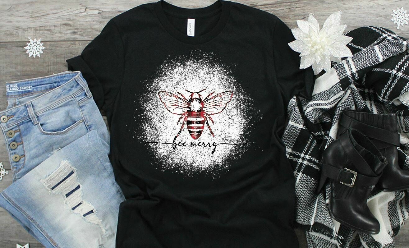 Bee Merry - 300 DPI PNG - Sublimation / Waterslide