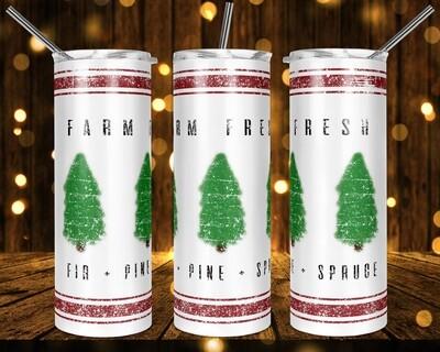 Farm Fresh - 20oz & 30oz Skinny TUMBLER PNG Sublimation