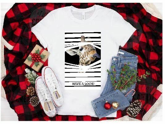 Blind Giraffe T-Shirt  - 20oz & 30oz Skinny TUMBLER PNG Sublimation