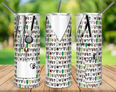 EXCLUSIVE - VET Set of 6 - 20oz & 30oz Skinny/Straight TUMBLER PNG Sublimation