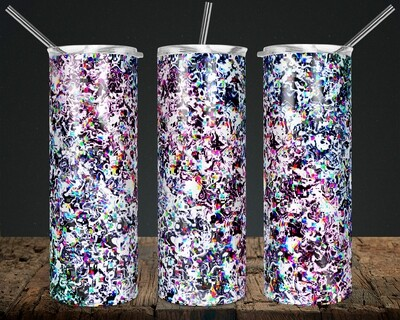Glitch - 20/30oz Tapered + 20/30oz STRAIGHT TUMBLER PNG Sublimation