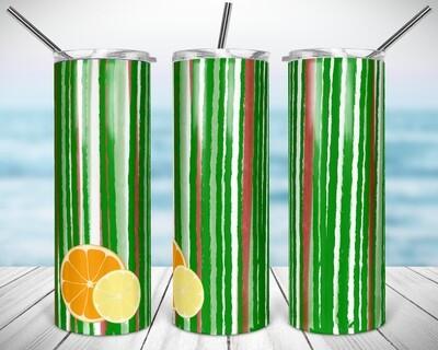 Watermelon Citrus - 20/30oz Taper + STRAIGHT TUMBLER PNG Sublimation