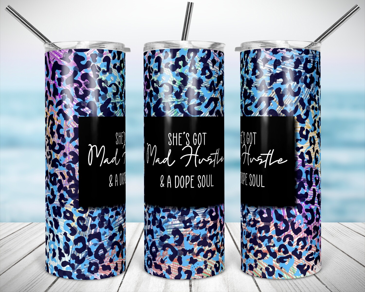 Mad Hustle  20/30oz Taper + STRAIGHT TUMBLER PNG Sublimation
