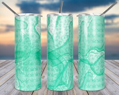 Weed Mint Green -  20oz TUMBLER PNG Sublimation